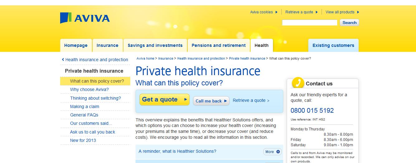 Aviva Health Insurance Review