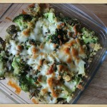 cheesy quinoa broccoli casserole x 1