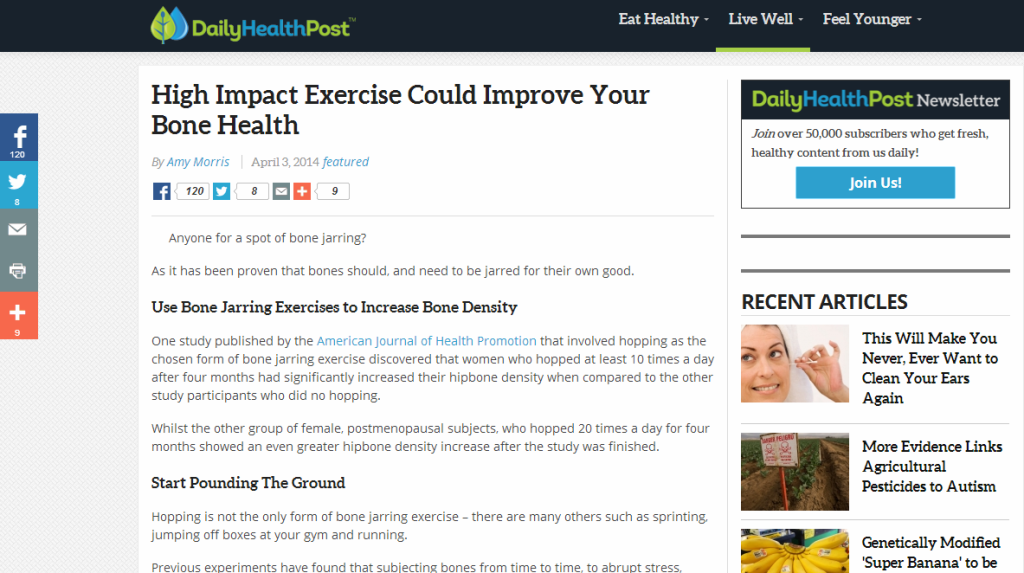 Daily Health Post - ad hoc contributor