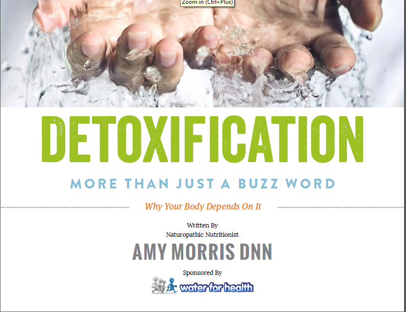 Created an ebook for a client on the benefits of detoxification