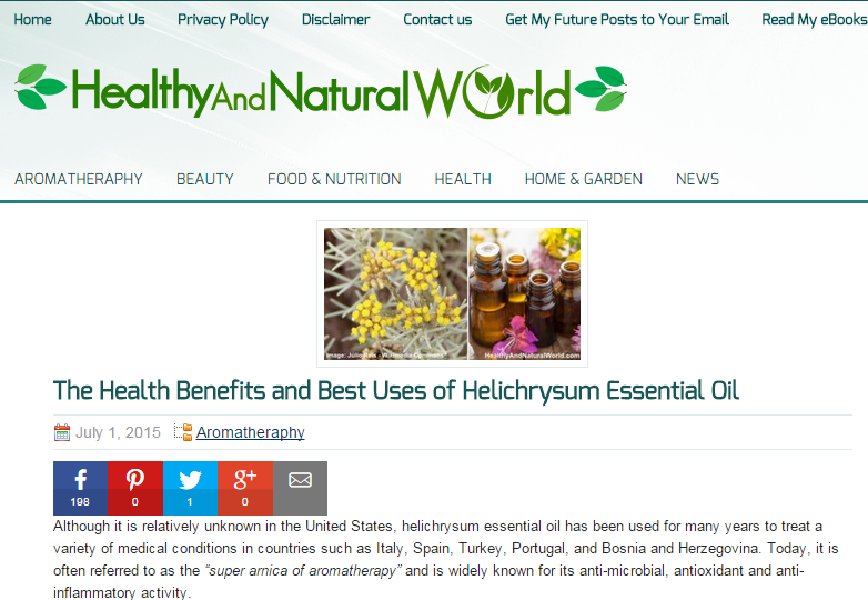 Healthy & Natural World regular contributor