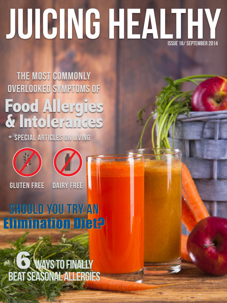 Juicing Healthy Magazine ad hoc contributor - This issue published my article on 'Should you try an elimination diet'?