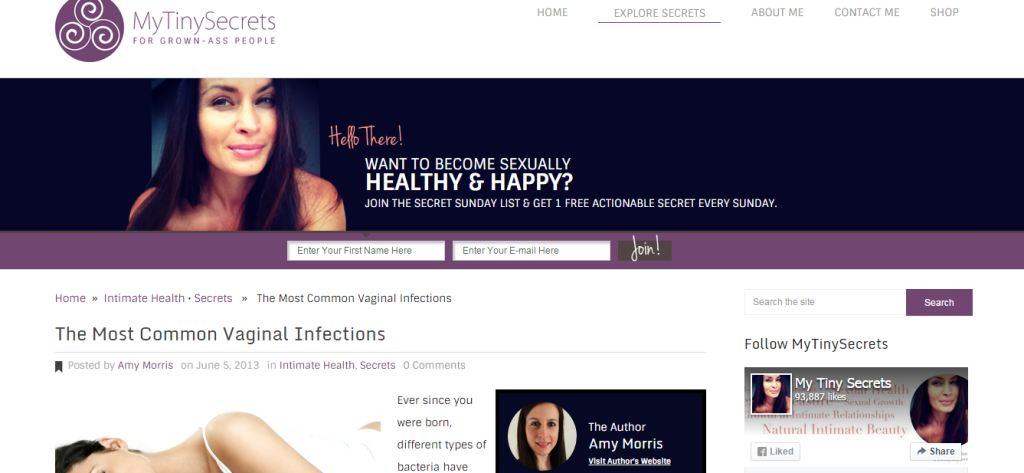My Tiny Secrets - Womens health ad hoc contributor
