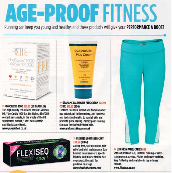 Running Fitness Magazine included my expert comment on the benefits of an omega 3 supplement in conjunction with a PR company