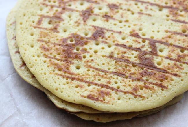 gluten free dairy free chickpea flour pancake recipe